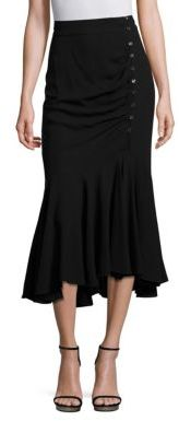 Michael Kors Collection Silk Asymmetric Skirt $1,150 thestylecure.com