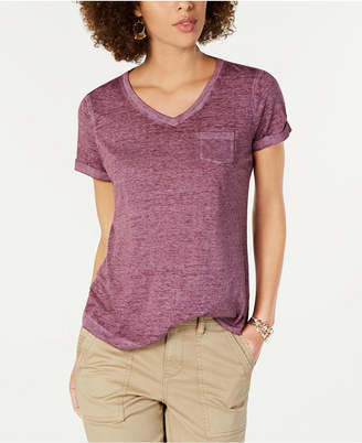Style&Co. Style & Co Petite Burnout V-Neck T-Shirt