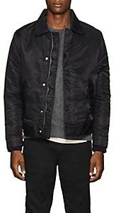 Officine Generale Men's Tech-Satin Bomber Jacket - Black