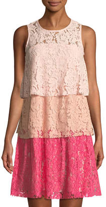 Taylor Tiered Ombre Lace Shift Dress