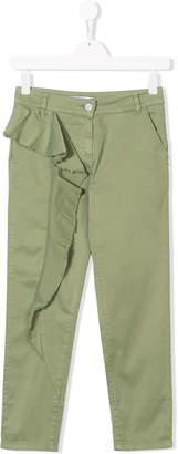 Patrizia Pepe Junior TEEN ruffled-trim trousers