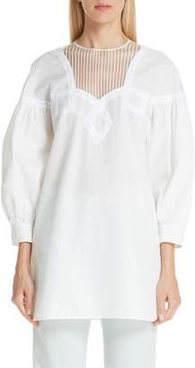 Calvin Klein Cotton Pique Prairie Top
