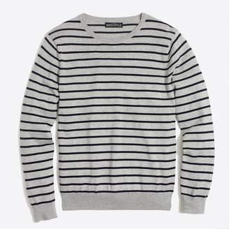 J.Crew Cotton jersey crewneck sweater in stripe