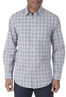 Haggar Heritage Long Sleeve Cotton Plaid Shirt