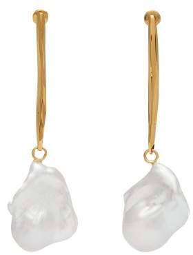 Alexander McQueen Baroque Pearl Drop Earrings - Womens - Gold