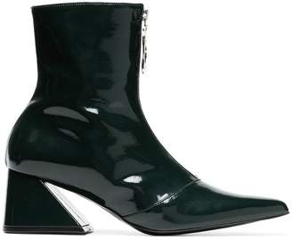 Yuul Yie Green 60 zipped patent leather ankle boots