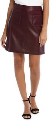 Basque PU Pocket Mini Skirt