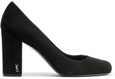 Saint Laurent - Babies Suede Pumps - Black