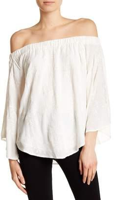 Karen Kane Embroidered Off-the-Shoulder Blouse