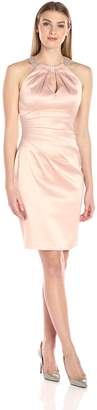 Eliza J Women's Sleeveless Stretch Satin Dress
