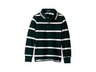 Polo Ralph Lauren Striped Cotton Mesh Polo Shirt (Toddler)
