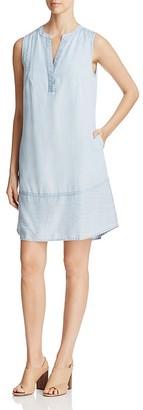 Foxcroft Mika Chambray Dress $98 thestylecure.com