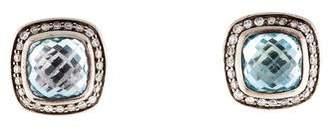 David Yurman Topaz & Diamond Albion Earrings