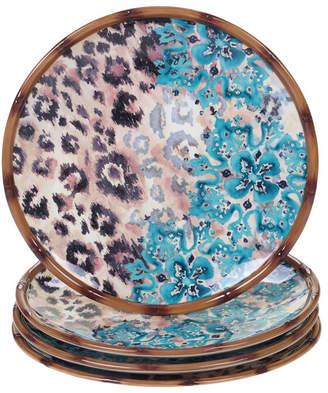 Certified International Exotic Jungle 4-Pc. Dinner Plates