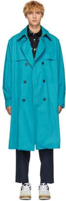 Kenzo Blue Trench Coat