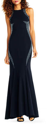 Adrianna Papell Contour-Glitter Mermaid Gown