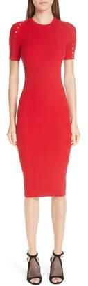 Alexander Wang Snap Sleeve Body-Con Midi Dress