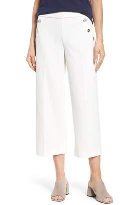 Chaus Crop Ponte Knit Sailor Pants