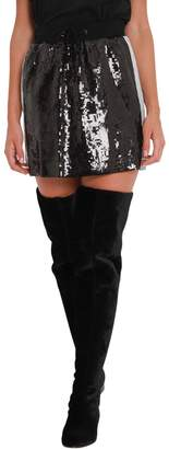 Alberta Ferretti Sequins Mini Skirt With Contrast Side Bands