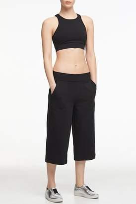 Donna Karan High Waisted Culotte Sweatpants