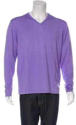 Isaia Knit V-Neck Sweater