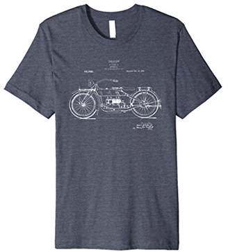 Classic Vintage Patent Print 1919 Motorcycle T-Shirt