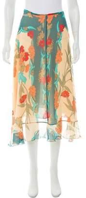 Anna Molinari Silk Midi Skirt