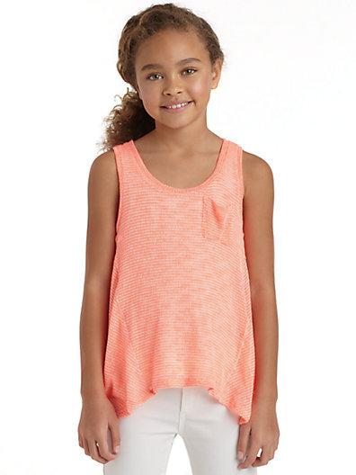 Splendid Girl's Beach Glass Knit Tank Top
