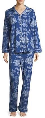 BedHead Mystery Garden Long-Sleeve Classic Pajama Set, Plus Size