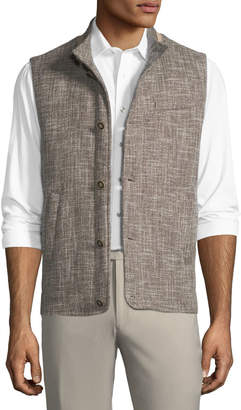 Peter Millar Expedition Textured-Woven Button-Front Vest