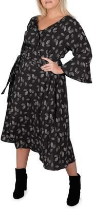 Gabrielle Plus Printed Wrap Midi Dress
