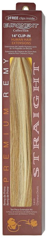 Euronext Clip In Blonde Frost 14 Inch Human Hair Extensions