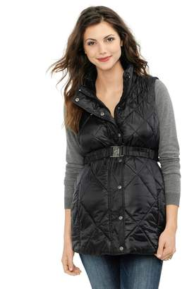 A Pea in the Pod Belted Puffer Maternity Vest