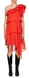 Givenchy Women's Silk Georgette One-Shoulder Dress - Red