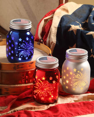 Americana Bethany Lowe Luminary Jars, Set of 3
