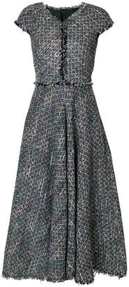 Talbot Runhof sequin embellished tweed dress