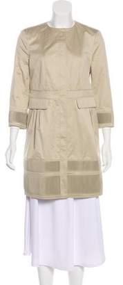 Burberry Sateen Zip-Front Coat