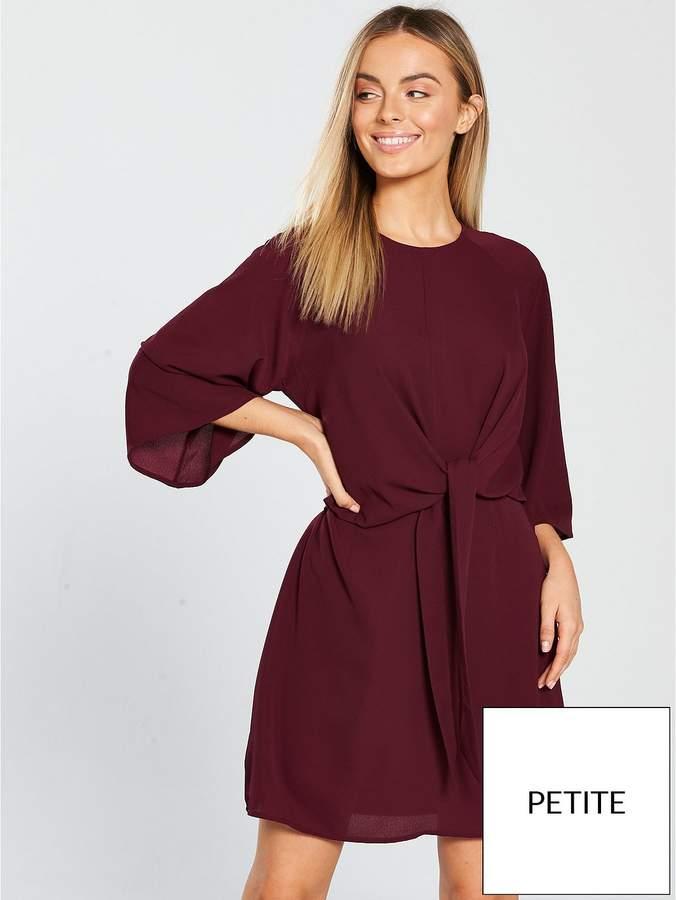 Twist Front Mini Dress - Plum