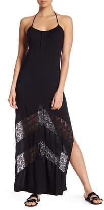 Ach'e A Che' Aniston Chevron Lace Maxi Dress