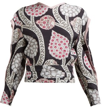 Isabel Marant Paisley Print Open Back Top - Womens - Black Multi