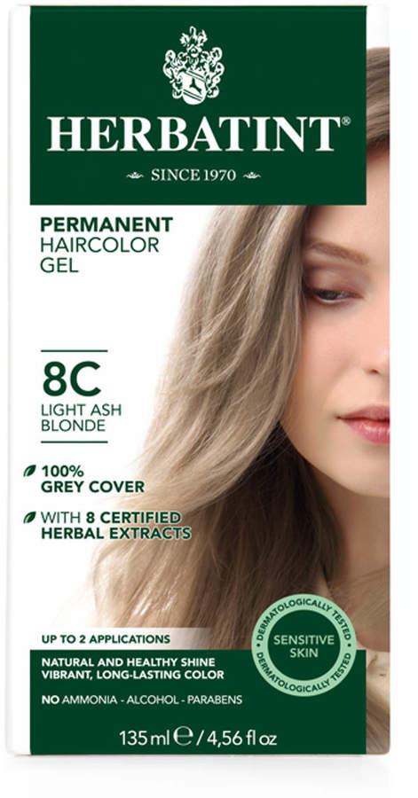 Light Ash Blonde 8C Herbatint Hair Color