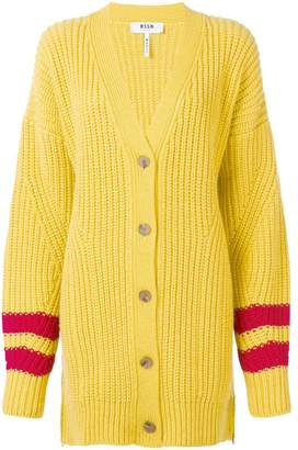MSGM oversized knitted cardigan