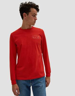 Martine Rose Classic LS T-Shirt in Red