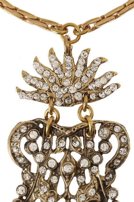 Lulu Frost Crest Tassel crystal necklace