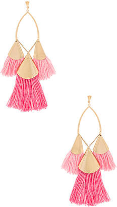 Ettika Tri Tassel Earrings in Metallic Gold. $40 thestylecure.com