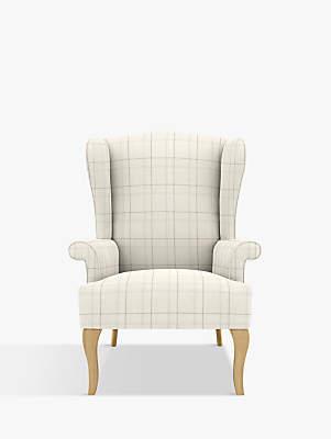 At John Lewis · John Lewis Shaftesbury Armchair, Light Leg, Brampton Check  Steel