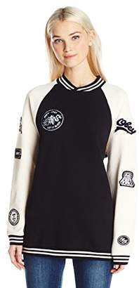 Obey Junior's Far Out Crew Neck Fleece Sweatshirt