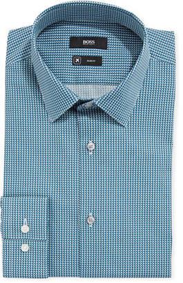 BOSS Men's Travel Micro-Diamond Dress Shirt