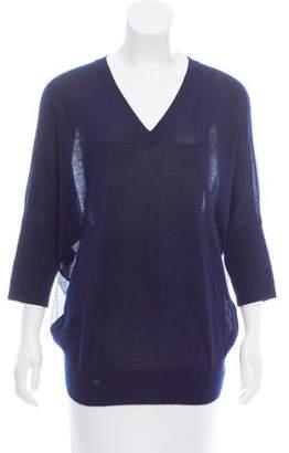 Derek Lam Silk Paneled Cashmere Sweater