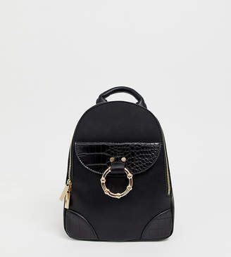 Skinnydip Caleb black backpack with gold hardware